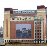 Large format building banner